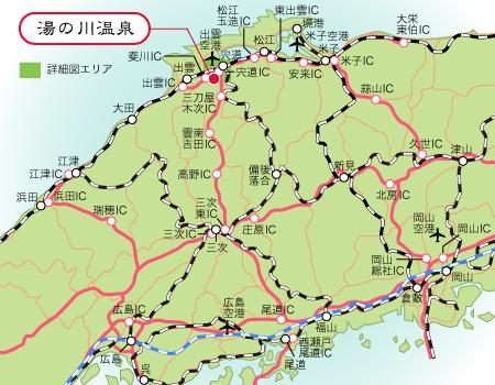 広域アクセスマップ 山形県の温泉地図 広域アクセスマップ 8/12ルートマップ 国道13号和合町